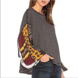 Free People Blossom Ballon Sleeve Thermal Top